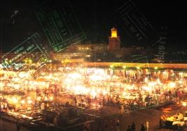 Marrakech, Morocco, Jemma el Fna, lights