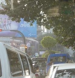 Sat in traffic