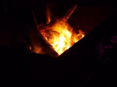 The firepit - my saviour!